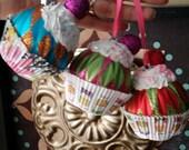fake cupcake ornaments