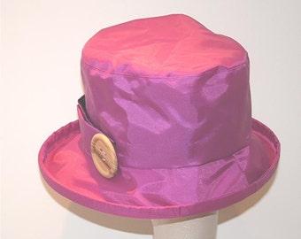 Fuchsia  PU Rain Hat