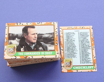 Desert Storm Trading Cards, Trading Cards, Desert Storm, History, Military Collectible