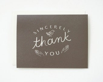 Sincerely thank you Card 1pc