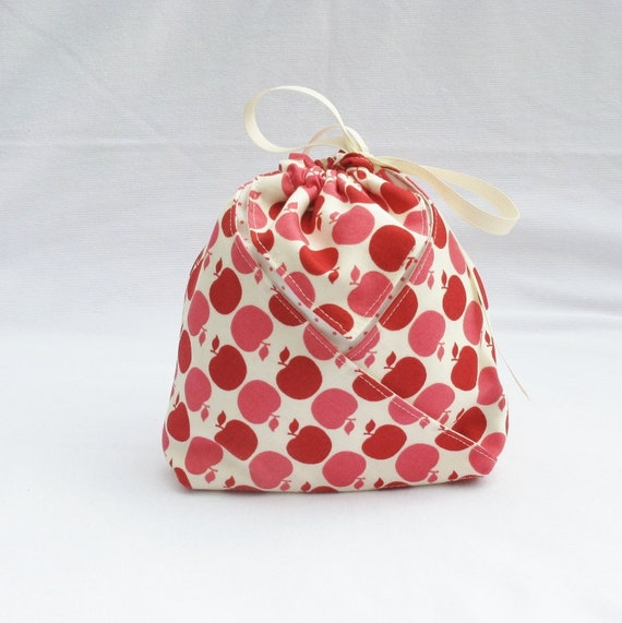 origami gift bag first day of school apples