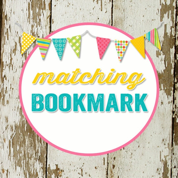 BOOKMARK to match any design for baby shower or party, digital, printable files