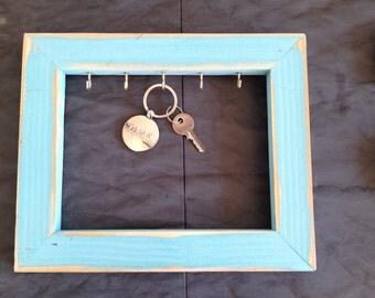 Framed Wood Key Holder