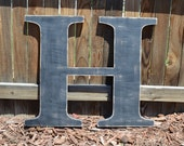 Large Wooden Letter  H - Custom Letters 24 Inch