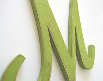 Wooden Letter M - 12 inch Nursery Letter - Wood Letter