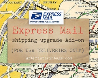 Express Mail USA Delivery Upgrade - Add-on for Personalized Map Art