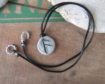 rune necklace ANSUZ runes pendant viking runes elder futhark witchcraft wicca wiccan jewelry pagan amulet mystical jewelry