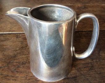 Vintage English hotel minimalist creamer milk cream jug circa 1950's / English Shop