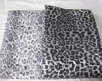 Leopard print duvet cover King Queen or twin XL - Western bedding - grey black and white leopard print cotton doona cover Nurdanceyiz