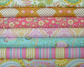 Half Yard Bundle of 7 from the Little Azalea Collection by Dena Designs for Free Spirit