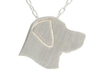 Labrador necklace, Labrador charm, Labrador jewelry - Sterling silver dog necklace, dog charm pet memorial gift