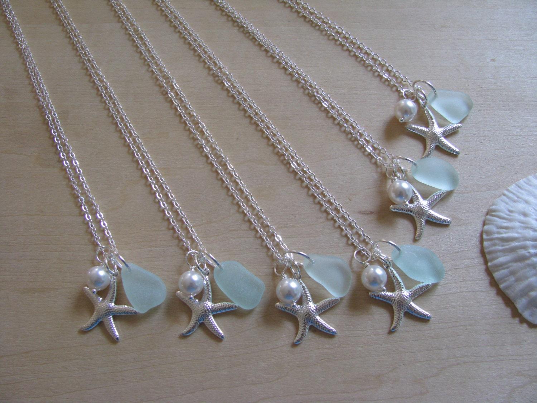 Beach Wedding Bridesmaid Gifts: Bridesmaid Gifts Beach Wedding Jewelry Sea Glass Aqua Sea Foam