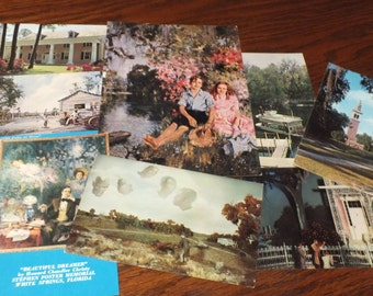 8 Vintage Unused Postcards from Stephen Foster Memorial Museum, White Springs, Florida, lot 721
