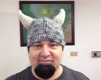 Finished Crochet Viking Helm