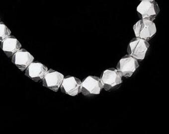 30 of Karen Hill Tribe Silver Facet Beads 3.2 mm. :ka2808