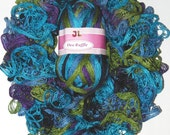 Dee Ruffle Fishnet (webbed) Net style yarn color 326 Turquoise Purple Vivid color