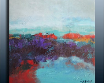 New Dawn-Original acrylic abstract landscape on canvas