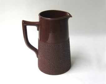 Vintage Mid century Gibsons Staffordshire brown earthenware milk jug pitcher