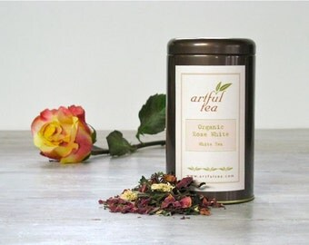 Organic Rose White Tea • 1 oz. Tin • Luxury Loose Leaf Blend