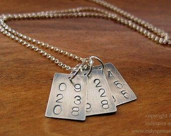 Personalized Necklace with Three Custom Dates.