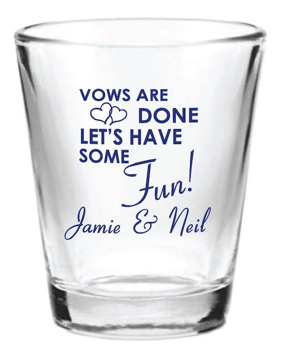 Wedding Gift Glasses Suggestions : ... 5oz Wedding Favor Glass Shot Glasses Custom Wedding Favors