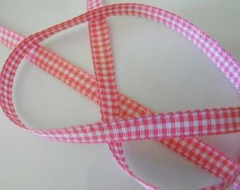 Pink Small Stripe Ribbon 15 Feet