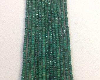Emerald Faceted Rondelles