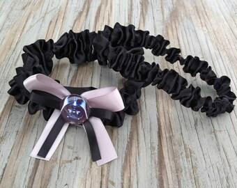 Darth Vader Satin Black Star Wars Wedding Garter Embellished Bridal Garter Or Garter Set
