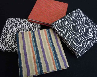 Japanese Geometric Patterns on BFK Mini Accordion Fold Artist's Book