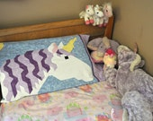 Unicorn Quilt Pattern with 3 sizes, the smallest works as a pillowcase - PDF