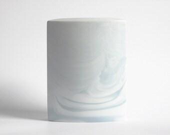 Vintage Porcelain White Queensberry Marble Vase - Rosenthal Studio Linie