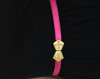 Waist belt, Fuchsia Belt, Dress belt, Pink Belt, Gold Belt, skinny belt, Prom dress belt, Bridesmaid Belt, wedding Accessories, Fleur des li
