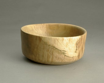 Maple Bowl that is an 8 inch x 3 inch turned bowl