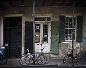 New Orleans Photography, Modern Wall Art, Bikes by the Street, Edgy and Grungy Photography, Fine Art Photography, Modern Photo Prints