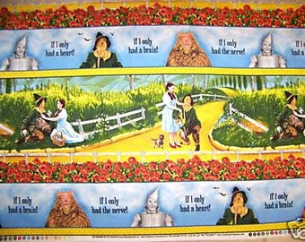 Wizard of Oz Yellow Brick Road Stripe premium cotton fabric from Quilting Treasures OOP HTF- sold by the yard