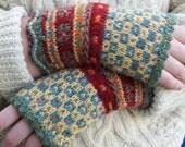 Latvian Fingerless Mitts Knitting Kit