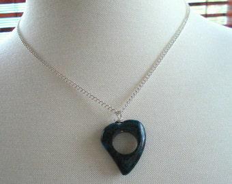 Chrysocolla Heart Necklace Pendant Handmade