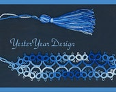 Tatted Lace Bookmark by Jan - Simply Shades of Blue