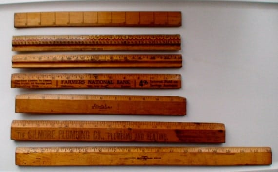 Wooden Rulers Advertising Rulers Instant Collection Of