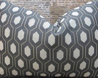 Designer Pillow Cover  - Lumbar, 16 x 16, 18 x 18, 20 x 20 Thom Filicia Euclid Tuxedo