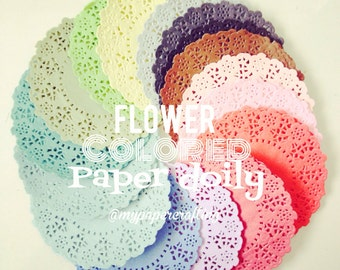 Flower doily in multi-color for wedding decoration/ pack