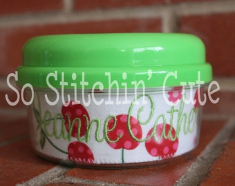 Polka Dot Cherries  Personalized Snack Cup