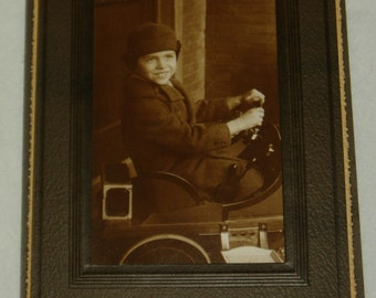 Studio Photo, Boy with His First Car