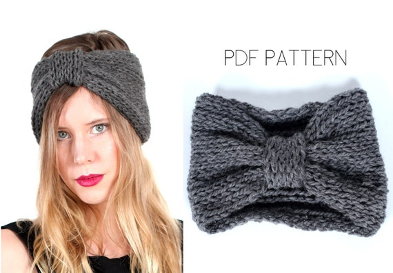 turban headband PDF knitting pattern by Westlake Designs