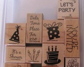 Celebration Stamp Set - Birthday and Baby Shower Invitations Stamps