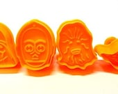 Set of 4 Star Wars  Fondant Cake Cookie Molds, Cookie Cutters