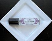 Vanilla Sandalwood  Perfume Oil, Vegan Perfume, Organic Perfume