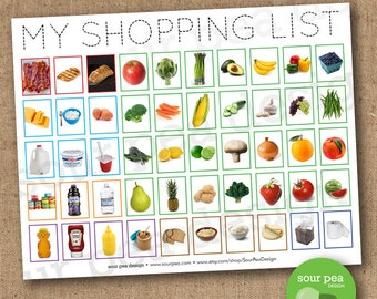 INSTANT DOWNLOAD: My Shopping List - grocery list for kids