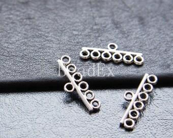 30pcs / Bar / Oxidized Silver / Base Metal / Multiple Strands Component (Y8320//O189)