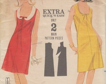 Vintage 60's - Semi-Fitted A-line Dress- Butterick Pattern